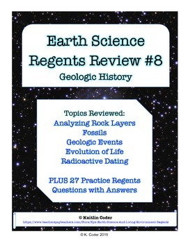 Earth Science Regents Review 8 - Geologic History