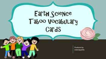 Earth Science Taboo Cards