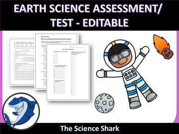 Earth Science Test/ Evaluation - Editable