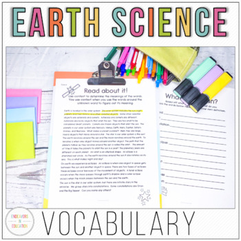 Earth Science Vocabulary Acquisition