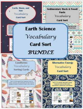 Earth Science Vocabulary Card Sort BUNDLE
