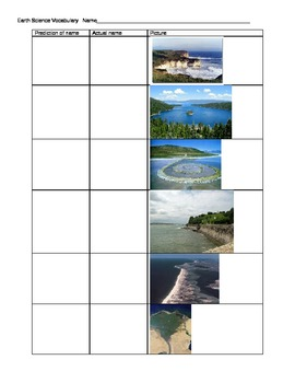 Earth Science Vocabulary Introduction