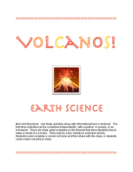 Earth Science Volcanos Mini Unit