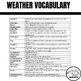 Earth Science Word Search  - Weather