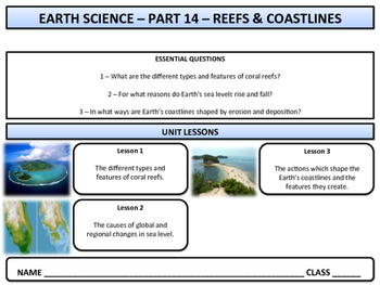 Coral Reefs & Coasts - Earth Science and Geography - Unit 14