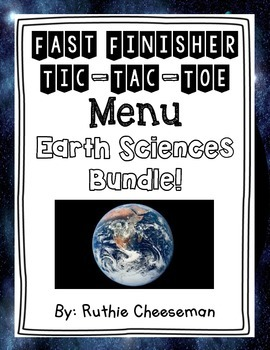 Earth Sciences Choice Menu Bundle