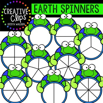 Earth Spinners {Creative Clips Digital Clipart}