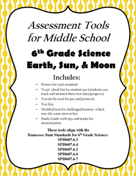Earth Sun and Moon Assessment Package