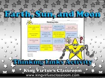 Earth, Sun, and Moon Thinking Links - King Virtue