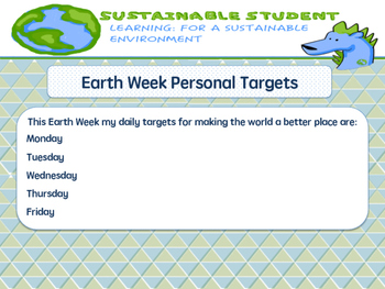 Earth Week Daily Targets