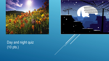 Earth and Space Day and Night Quiz