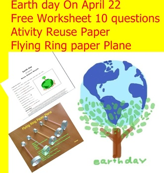 """FREEBIE Worksheets Earth Day  """"Love The Earth EveryDay"""""""