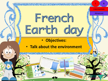 Earth day in French for intermediate or advanced NO PREP