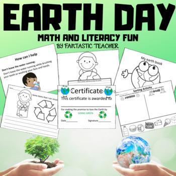 Earth day math and Literacy Fun