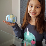 Earth day paper globe and FREE Earth Day fact sheet and pl