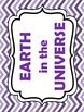 Earth in the Universe WORD WALL Science Vocabulary