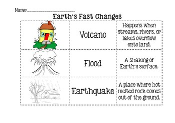 Earth's Fast Changes (Cut and Paste)