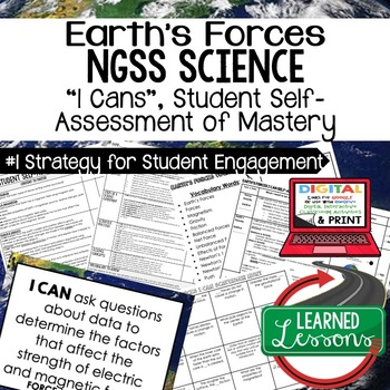 Earth's Forces Student Self Assessment of Mastery I Cans E