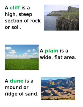 Earth's Land Features/Landforms