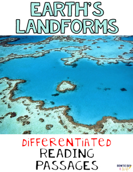 Earth's Landforms Differentiated Nonfiction Reading Passages
