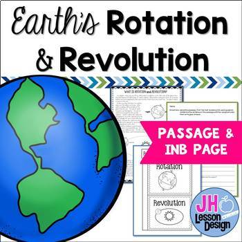 Earth's Rotation and Revolution: Nonfiction Passage and Foldable
