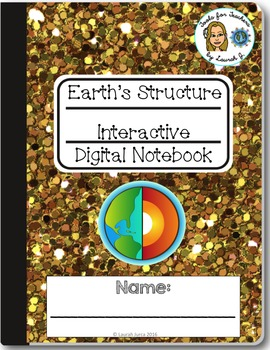 Earth's Structure Interactive Digital Notebook for Google Drive