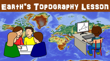 Earth's Topography No Prep Lesson with Power Point, Worksh