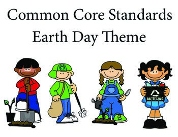 EarthDay Kindergarten English Common core standards posters