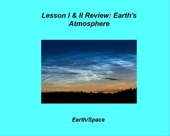 """Earth/Space ActivInspire Review Lesson I and II """"Atmospher"""