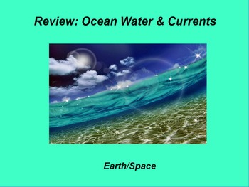 "Earth/Space ActivInspire Review Lesson I and II ""Ocean Wat"