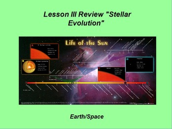 """Earth/Space ActivInspire Review Lesson III """"Stellar Evolution"""""""