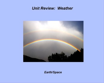 """Earth/Space ActivInspire Unit X Assessment Review """"Weather"""""""