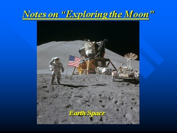 "Earth/Space Lesson III PowerPoint ""Exploring the Moon"""