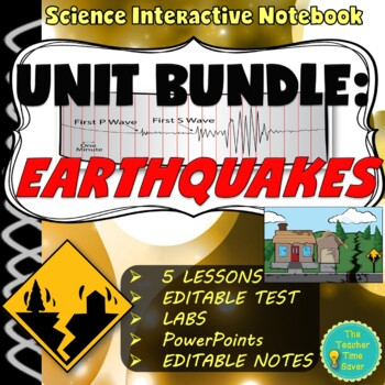 Earthquake Bundle- 5 Lessons, Projects, & Assessments (70