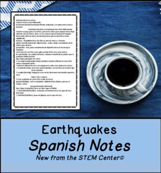 Earthquake Spanish Notes