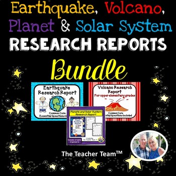 Earthquake - Volcano - Planet Research Report Bundle