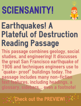 Earthquakes! A Plateful of Destruction: a leveled geograph