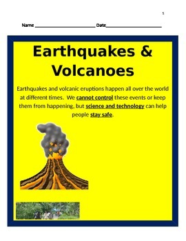 Earthquakes and Volcanoes BUNDLE 5th Science