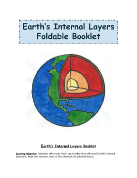 Earth's Internal Layers Foldable Booklet