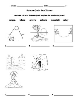 Earth's Landforms Quiz