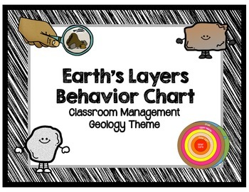 Earth's Layers Behavior Chart (Classroom Management / Geol