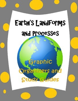 Earth's Processes and Landforms Study Guides and Graphic O