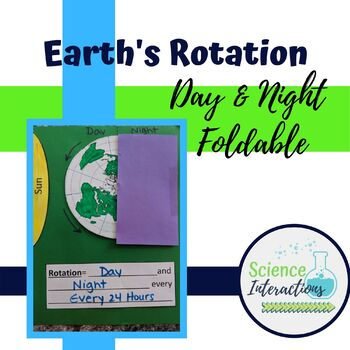 Earth's Rotation, Day and Night Foldable