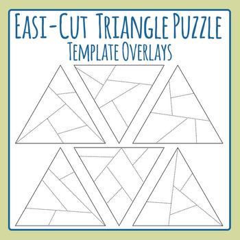 Easi-Cut Triangle Jigsaw Puzzle Template Overlays Clip Art
