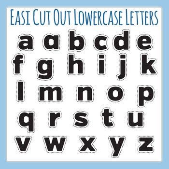 Easi-Cutout Lowercase Letters - Simple Cut Out Alphabet Cl
