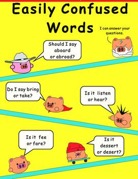 Easily confused Words Comic Strip