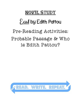 East by Edith Pattou Pre-Reading Activities