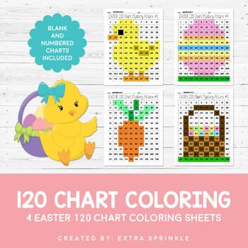 Easter 120 Chart Coloring Pages