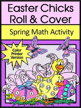 Easter Math Activities: Easter Chicks Easter Roll & Cover
