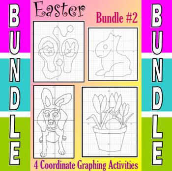 Easter - 4 Coordinate Graphing Activities - Bundle #2